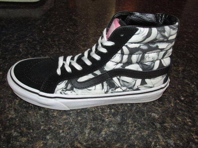 vans roulettes à planche à roulettes vans rose noirs gris et blanc haut chaussures sz 5,5  s / 4 ho mmes 1c67dd