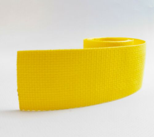 """2/"""" Inch Wide Yellow Polypropylene Sold By-The-Yard 36/"""" Uncut Lengths Webbing"""