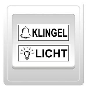 Details Zu 5 Klingel Und 5 Licht Aufkleber Schrift Symbol Für Schalter Taster Transparent