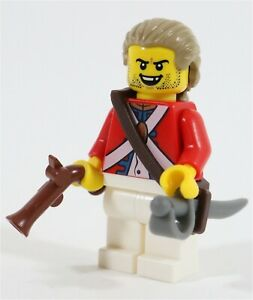 LEGO PIRATES IMPERIAL INJURED RED COAT SOLDIER MINIFIGURE MADE OF GENUINE LEGO