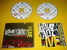 """CD + DVD """" KILLERPILZE - MIT PAUKEN UND RAKETEN LIVE """" 47 SONGS (ICH BIN RAUS)"""