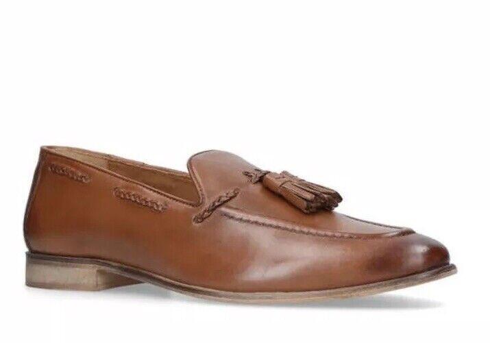 Kg Kurt Geiger Geiger Geiger Mens Rochford Tan Leather Loafers Eur 43  4917be