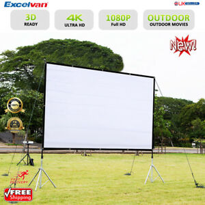 Image Is Loading 120 034 Collapsible Portable 16 9 Projector Screen