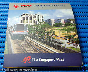 1997-Singapore-SMRT-10th-Anniversary-Sterling-Silver-Proof-Medallion