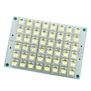 DC 12V 3.2W 48 White LEDs Super Bright Piranha LED Panel Board Lamp light + PCB