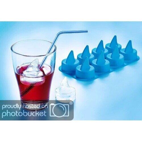 Silicona eiswürfelform 8x aleta de tiburón cubitos de hielo forma eiswürfelbereiter tiburón hielo