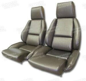 Details about 84-87 Corvette C4 MOUNTED Seat Upholstery Covers BRONZE VINYL  with FOAM SET NEW