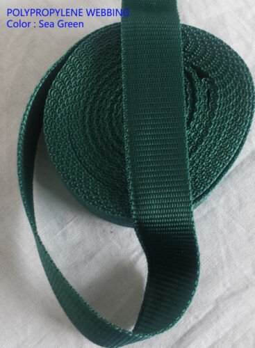 """STRAPS 38mm 1//2/"""" inch POLYPROPYLENE WEBBING STRAPPING BAGS WEAVE Colors"""