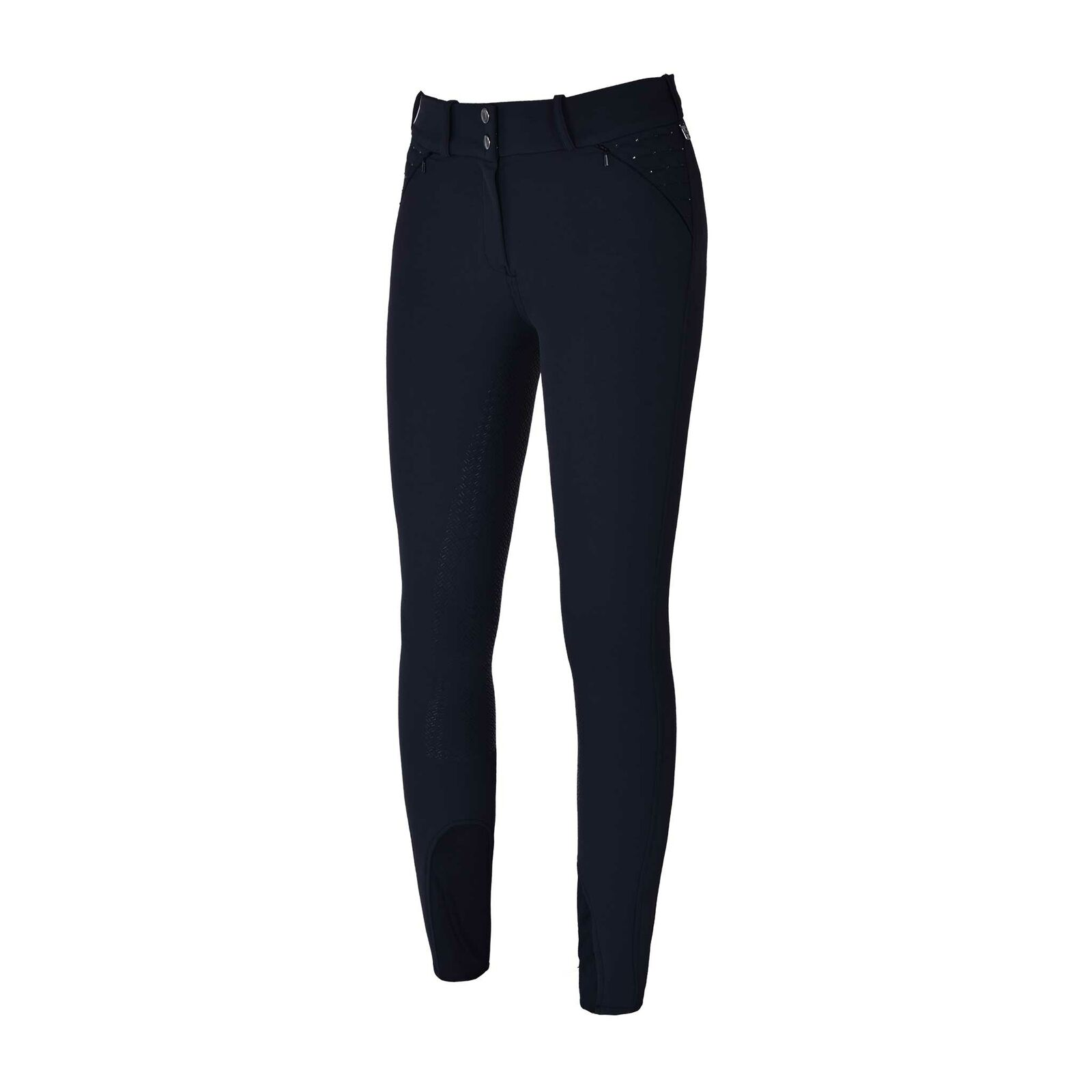 Koningsland Ladies Breeches Kadi met Full Grip Navy Jurkage 2019