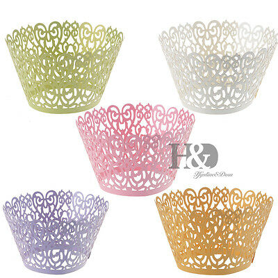 Wedding Birthday Baby Shower Filigree Vine Cupcake Wrappers Wraps Cases Liners