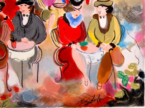 """ZULE MOSKOWITZ /""""BUENOS AIRES II/"""" Hand Signed /& Embellished Serigraph"""