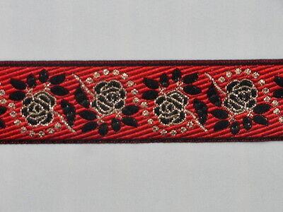2 Meter Webborte Webband Jacquard Borte Trachtenborte Borduere Stickerei 10 mm