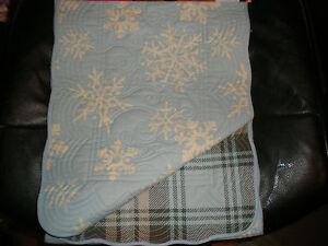 Winter Table Runner Snowman Table Runner Quilted Reversible Snowman and SnowFlakes Table Runner