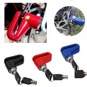 MTB Scooter Bike Anti Theft Security Padlock Alarm Brake Disc Lock+2 Key