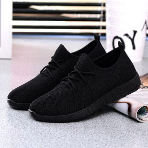 Noir Blanc Pour Femme Casual Sports Chaussures De Course Fitness Gym Baskets confort