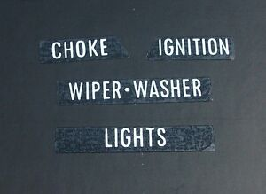 NEW-Dash-Facia-Lettering-Decal-Set-for-Holden-HT-HG-Monaro-GTS-Premier-Brougham
