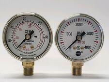 """1 1//2/"""" 4000 PSI /& 30 CFH US Gauges for Victor AF 150 /& CF 153 buy one or both"""