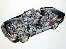 A3 Mercedes-Benz 300 SL Gullwing Cutaway Drawing Wall Poster Art Picture Print