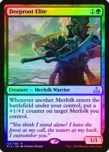 Deeproot Elite FOIL Rivals of Ixalan NM Green Rare MAGIC MTG CARD ABUGames