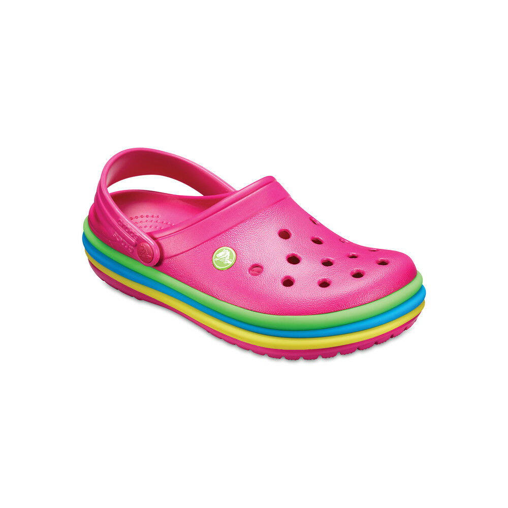 Crocs Clog Ciabatta Uomo Rainbow Band Fucsia Multicolor 205212
