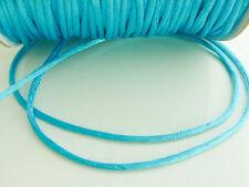 10 x metres Turquoise Blue 2mm Rattail Rat Tail Satin Nylon Beading Cord Thread