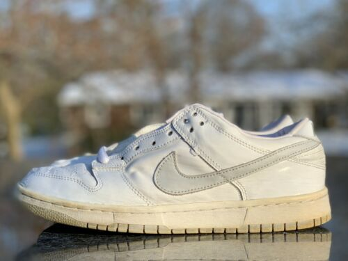 Nike Dunk Low Pro B White Patent Leather Size 9.5
