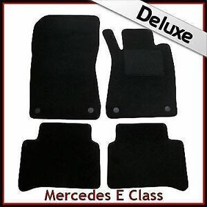 MERCEDES E-CLASS W211 2005-2009 PREMIUM Tailored Black Car Floor Mats