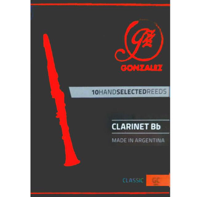 Gonzalez Bb Clarinet 'Classic' Reeds Strength 4, Box of 10