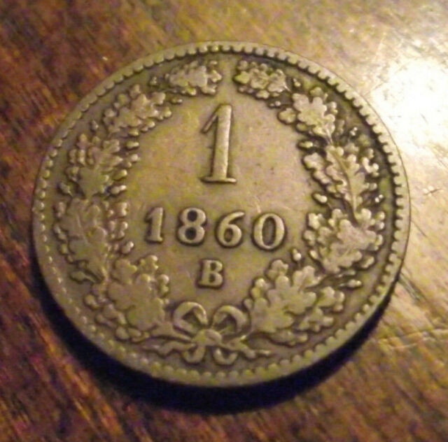 #812 Austria; 1 Kreuzer 1860B