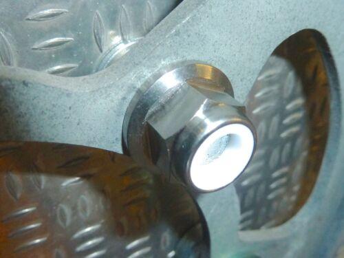 bridas de 675 Tuercas Triumph con Nyloc con titanio Triple 1050 Street titanio Tiger 800 bridas de OCqCf