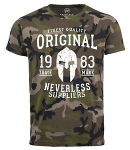 Neverless-Cooles-Herren-T-Shirt-Original-Gladiator-Camouflage-Camo-Shirt