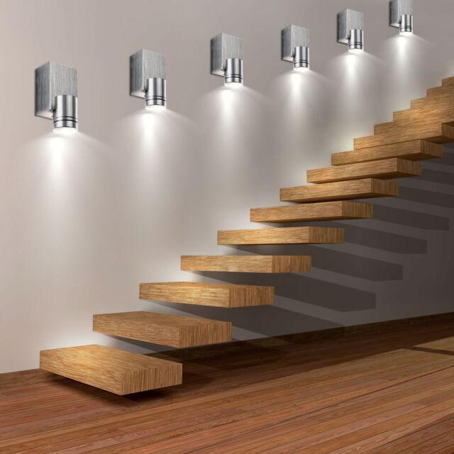 6er set led wall spot lights living room aluminium hall spotlight rh ebay co uk
