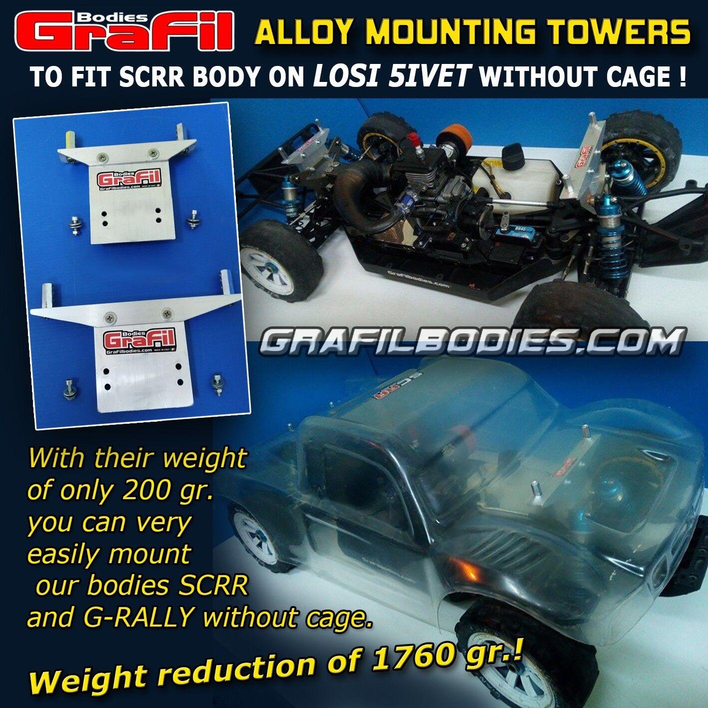 LOSI 5iveT -   tuttiOY MOUNTING TOWERS  kit to fit easily the  SCRR  GraFil corpo   per il tuo stile di gioco ai prezzi più bassi