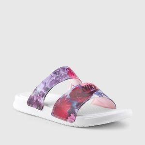 948ac8265 Women s Nike Benassi Duo Ultra Premium Slides Floral Print Size 9 ...