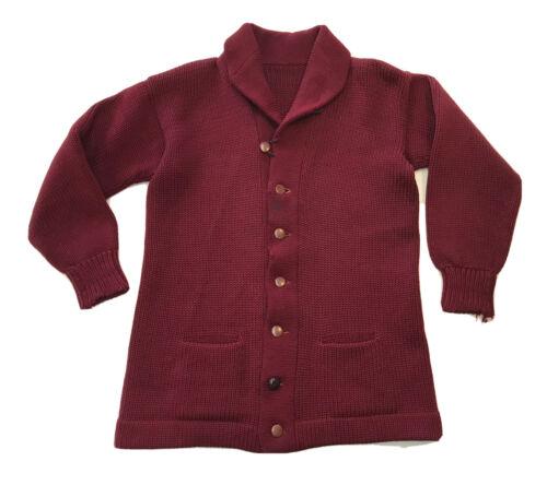 Vintage 1930s Shawl Collar Wool Cardigan Sweater M