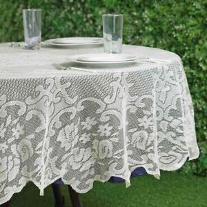 Attirant Image Is Loading IVORY 70 ROUND Floral LACE TABLECLOTH Wedding Party