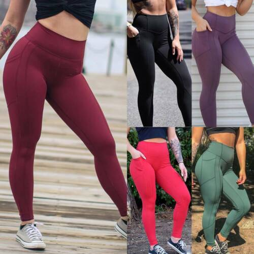 Ladies Anti-Cellulite Butt Lift Yoga Pants Gym Fitness Scrunch Leggings Jumpsuit