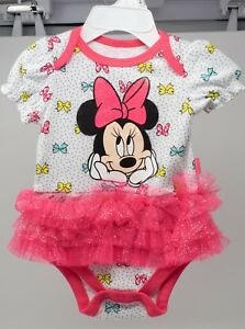 fb27c4e9884d Details about Minnie Mouse Baby Girl Bodysuit w  Ruffle Bows NWT Disney  Baby 0-3 6-9 Pink