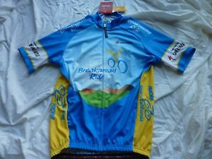Hincapie-Amgen-Tour-Of-California-Cycling-Jersey-NWT-21-5inches-armpit-to-armpit