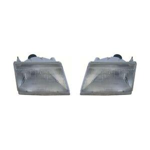 1998-1999-2000-Mazda-B2500-B3000-B4000-Head-Light-Assembly-Pair-Set-LH-and-RH