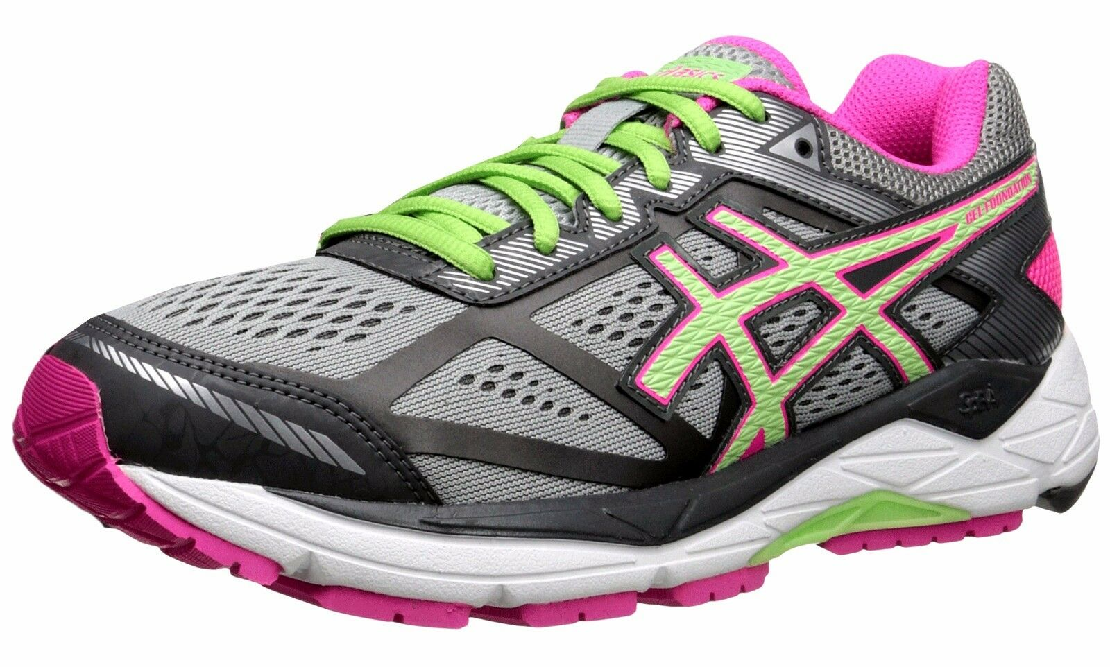 ASICS  WOMENS GEL FOUNDATION 12 (D) WIDTH RUNNING SHOES  the classic style