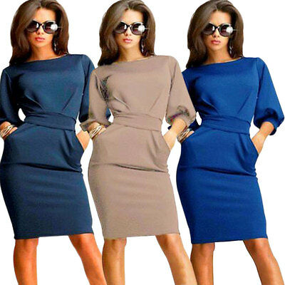 Fashion Women Dress Summer Casual OL Business Party Evening Cocktail Mini Dress