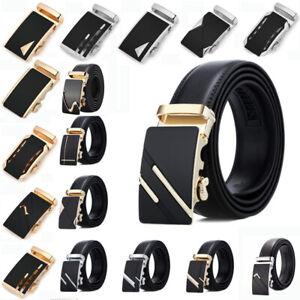 Fashion-Men-039-s-High-Quality-Automatic-Buckle-Leather-Belt-Waist-Strap-Waistband