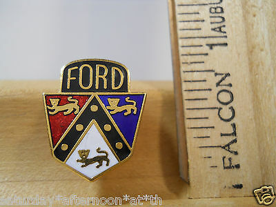 Ford Chrome Script Blue Enamel Logo Collectable Lapel Hat Vest Pin Tie Tack