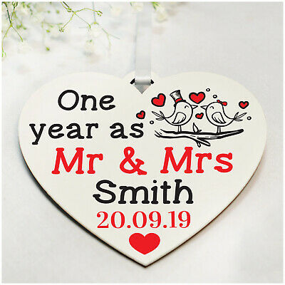 25th Wedding Anniversary Gifts.Personalised 1st 10th 25th Wedding Anniversary Gifts For Her Him Wife Husband Ebay