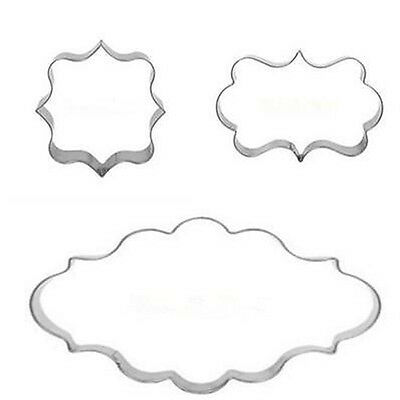 1 Set of Oval + Rectangle + Square Cake Cookie Frame Cutter Mold Party Club