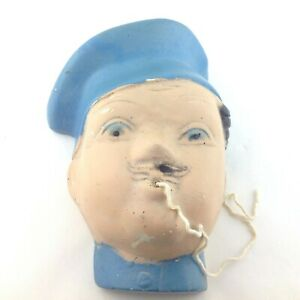 Chef-Chalkware-String-Holder-with-Blue-Hat-French-Vintage