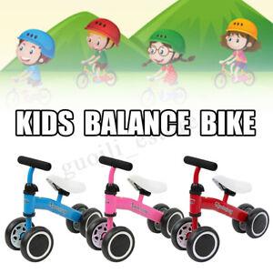 4-Wheel-Toddler-Balance-Bike-No-Pedal-Bicycle-Kids-Ride-On-Scooter-UK