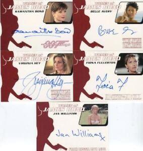 James-Bond-Archives-2014-Edition-Women-of-Bond-Autograph-Card-Lot-5-Cards