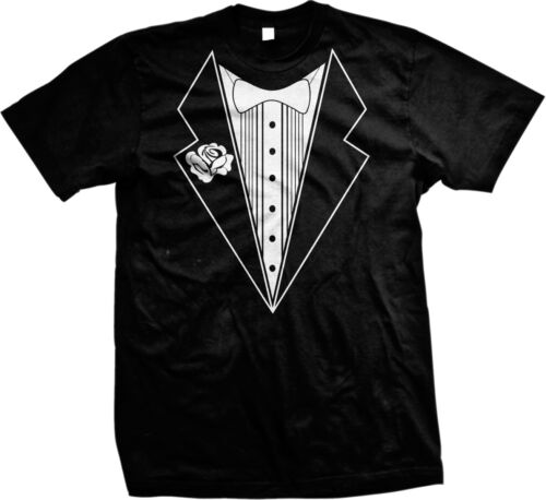 SALE Tuxedo Design Fake Faux Tux Bachelor Party Funny Hipster Cool Prank T-shirt